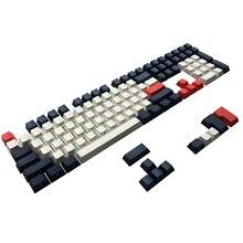 Conjunto de teclas estampadas laterais pbt, conjunto de teclado mecânico ansi iso cherry mx para 60%/tkl 87/104/108 mx fit anne ikbc akko x ducky