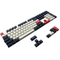 Pbt lado impresso ansi iso cereja mx keycap conjunto para 60%/tkl 87/104/108 mx teclado mecânico apto anne ikbc akko x ducky|Teclados| |  -