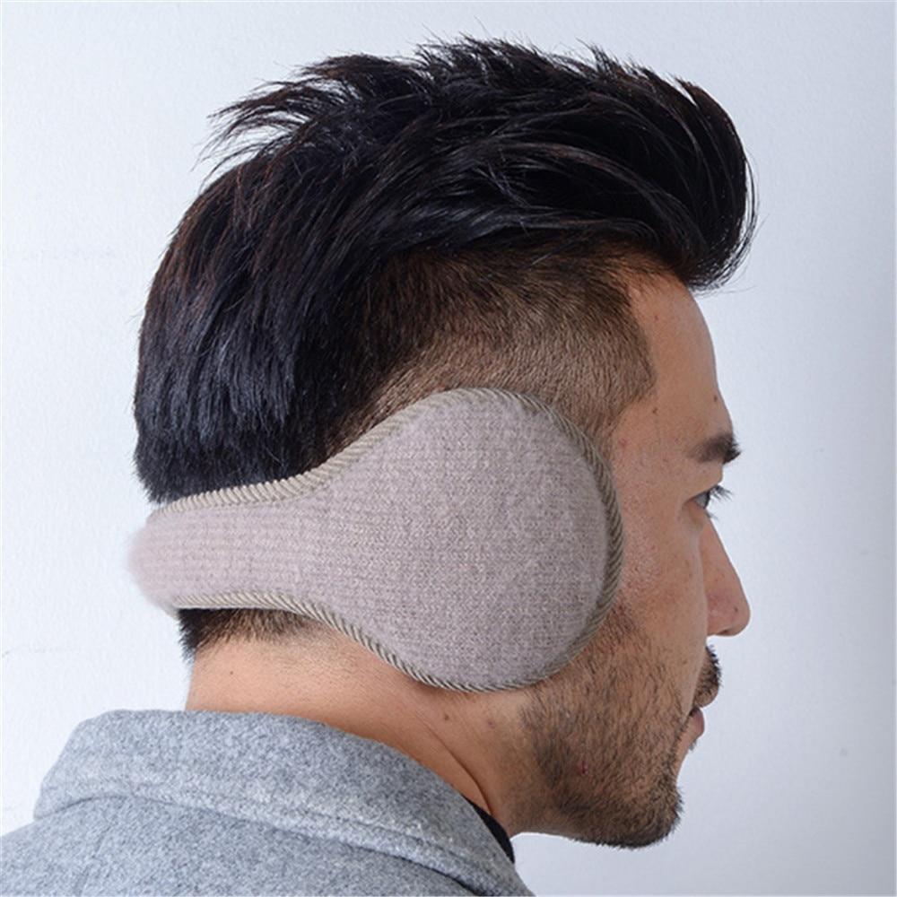 Fashion Men Women Winter Warm Solid Earmuffs Adjustable Ear Warmer Soft Ear Muffs Fleece Warmer Unisex Earmuff