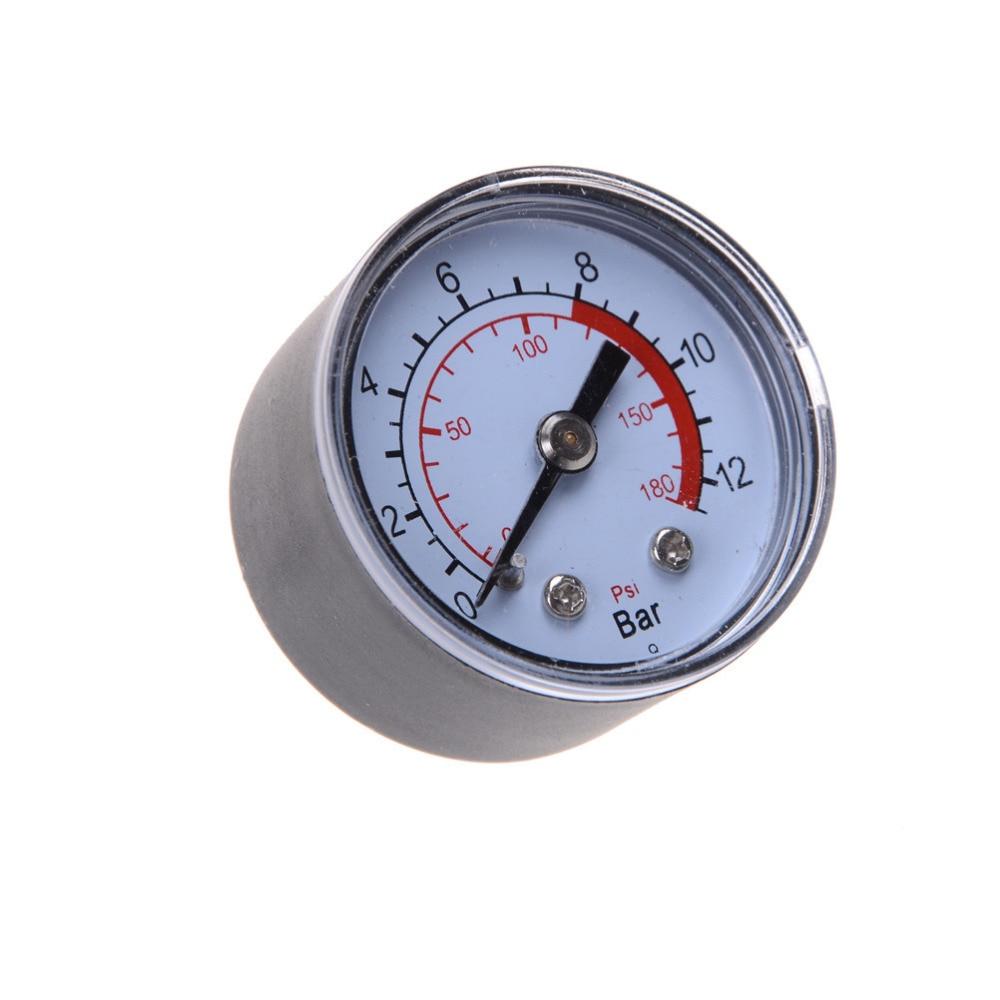 1PC Air Compressor Pneumatic Hydraulic Fluid Pressure Gauge 0-12Bar / 0-180PSI