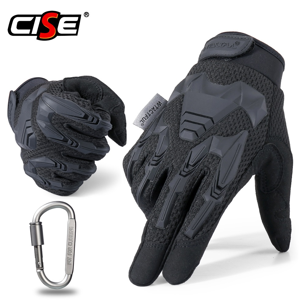 Motorcycle Full Finger Gloves Rubber Protective Gear Outdoor Sports Biker Riding Motocross Moto Motorbike Skidproof Men Glove