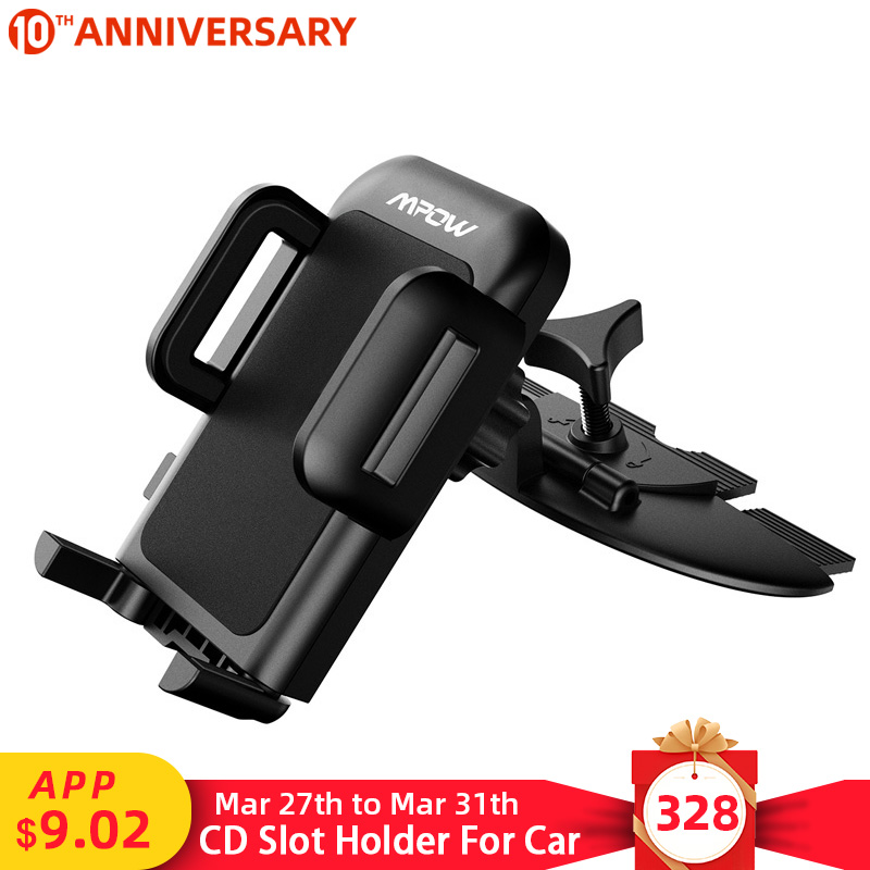 Mpow MCM3 CD Slot Car Phone Holder Car Mount Holder Stand 360 Rotation Mobile Phone Holder Stand For Iphone XR XS Samsung Xiaomi