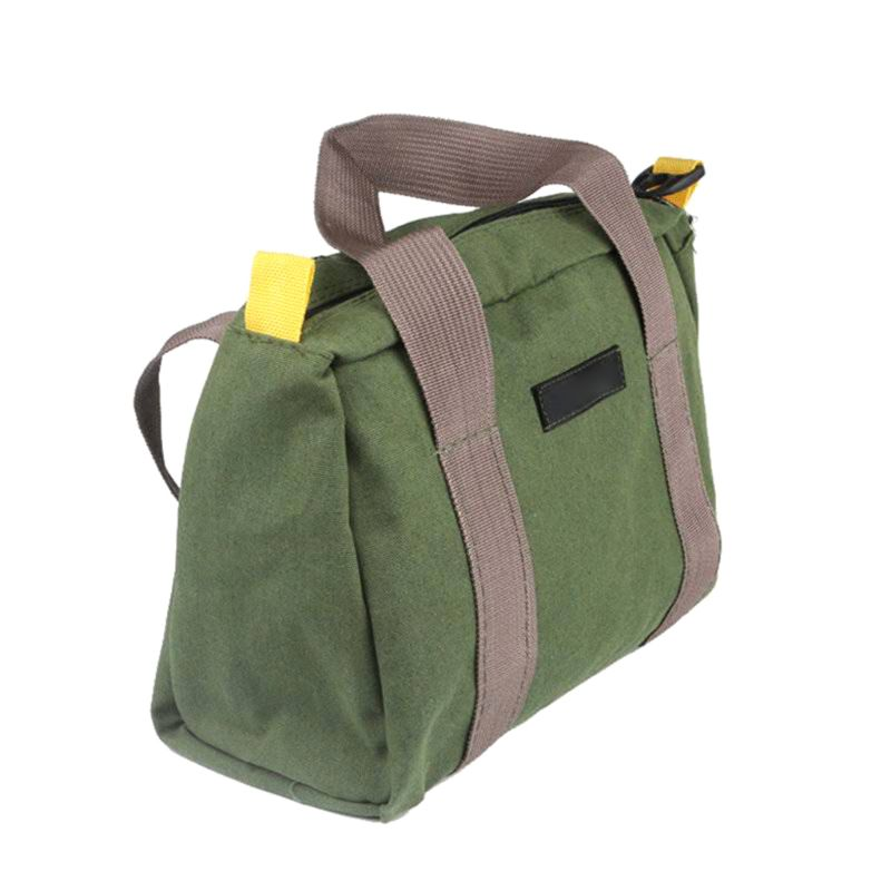 3 Colors Multifunction Canvas Hand Tool Storage Bag Waterproof Hardware Parts Organizer Pouch For Screwdrivers Pliers Tool Bag