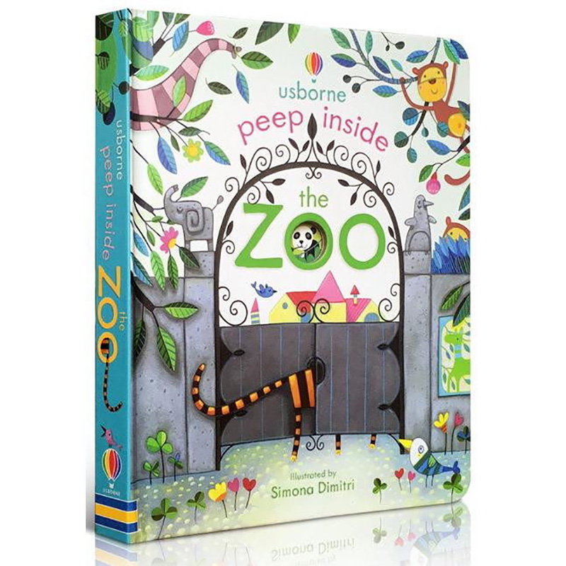 Usborne Peep Inside The Zoo Animal English Educational 3D Flap Picture Books Baby Children Reading Book
