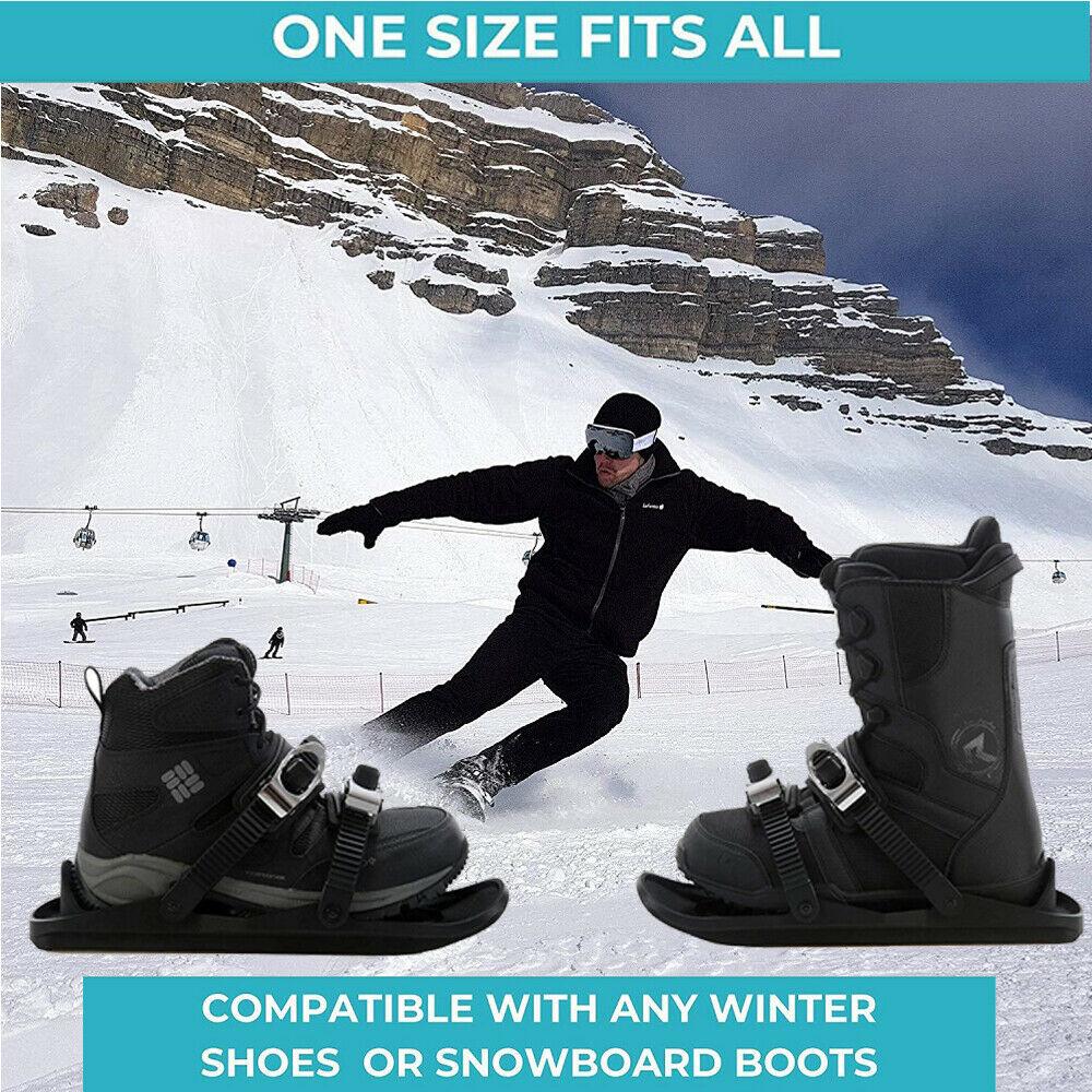 Mountain Skis Mini Ski Skates Snowboards Alpine Skis Snow Short Skiboard Outdoor Travel Snowboarding Shoes Stainless Steel Newly