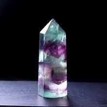1 adet doğal florit altıgen sütun kristal noktası şifa değnek Mineral kristal ev dekorasyon taş çalışma odası dekorasyon