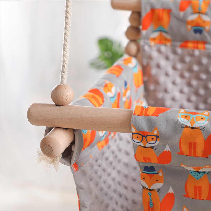 아기 캔버스 스윙 의자 교수형 나무 스윙 캔버스 좌석 어린이 유치원 흔들 의자 실내 작은 바구니 아기 장난감 외부