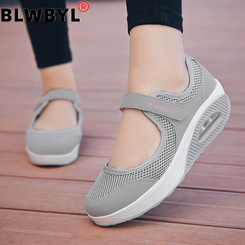 2021 Summer Fashion Women Flat Platform Shoes Woman Breathable Mesh Casual Shoes Zapatos Mujer Ladies Boat Shoes 1