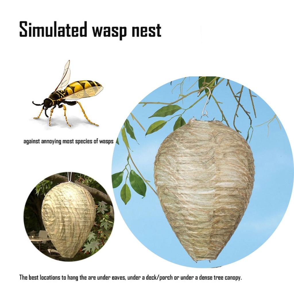 3X Wasp caydırıcı Yellowjackets arı Hornets sahte yuva-simüle ve doğal yeni uçan sivrisinek tuzağı eşek arısı sinek böcek yakalayıcı