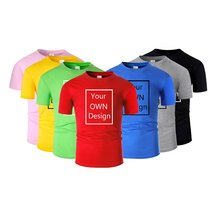 T shirts 100% Cotton Design Brand Logo/Picture Custom Girl Men and Women DIY T-shirt Short Sleeve Casual Tshirt Tops Clothes Tee(China)