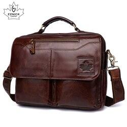 Мужская сумка из натуральной кожи, Офисные Сумки для мужчин, кожаный портфель для ноутбука, сумки на плечо, роскошные сумки, Офисные Сумки ...