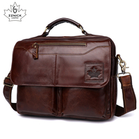 Men's genuine leather bag office bags for men leather laptop bag Briefcase Shoulder handbag Luxury Handbag office bags ZZNICK