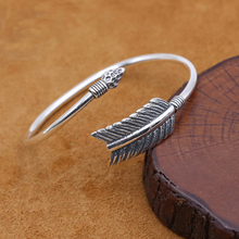 S925 sterling silver jewelry creative Indian bow and arrow bracelet simple men and women opening bracelet lanli natural jewelry 4x4mm square pink bed wooden bracelet men and women giving presents and self use