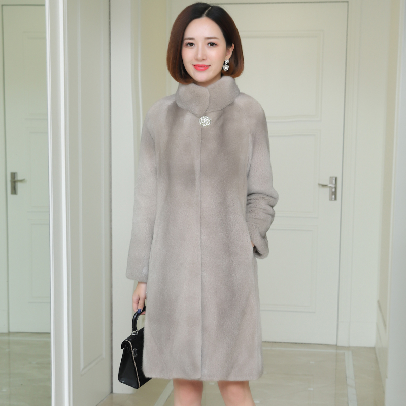 fur fur Real Mink coats 2020 winter womens clothing loose Plus size 3xl high-quality fur jacket thick warm luxury fur Overcoat