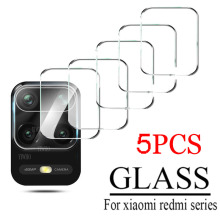 5Pcs for Xiaomi Redmi Note 9 Pro 9S 9 9T 5G 9c NFC 8t 9a 8 Camera Lens Protector Tempered Glass Back Screen on Redme 9t 8a Glass