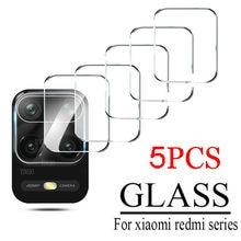 5 peças para xiaomi redmi nota 9 pro 9s 9t 5g 9c nfc 8t 9a 8 câmera lente protetor de vidro temperado tela traseira em redme 9t 8a vidro