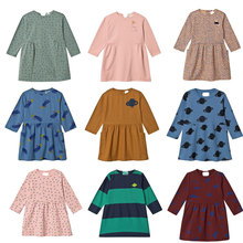 купить Pre-sale Kids Dresses For Girls Beautiful Princess Animal Print Party Girls Christmas Dress 2019 Autumn Winter Baby Girl Dresses дешево