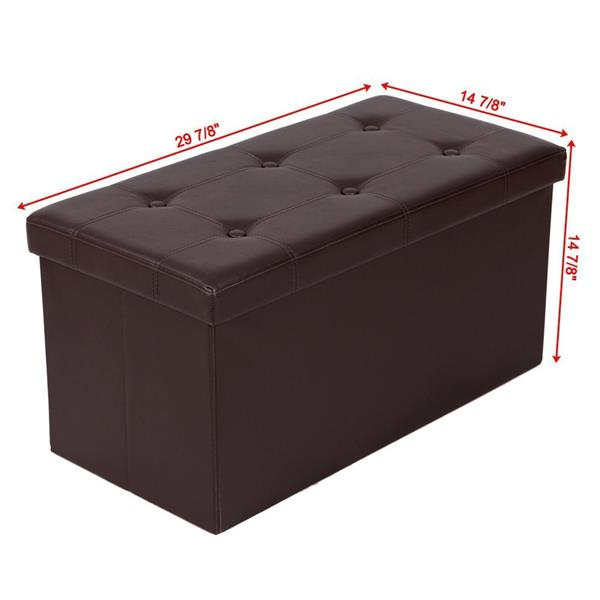 Leather storage stool receptive simple modern adult shoes stools household sofa bench furinture For The Living Room Decoration