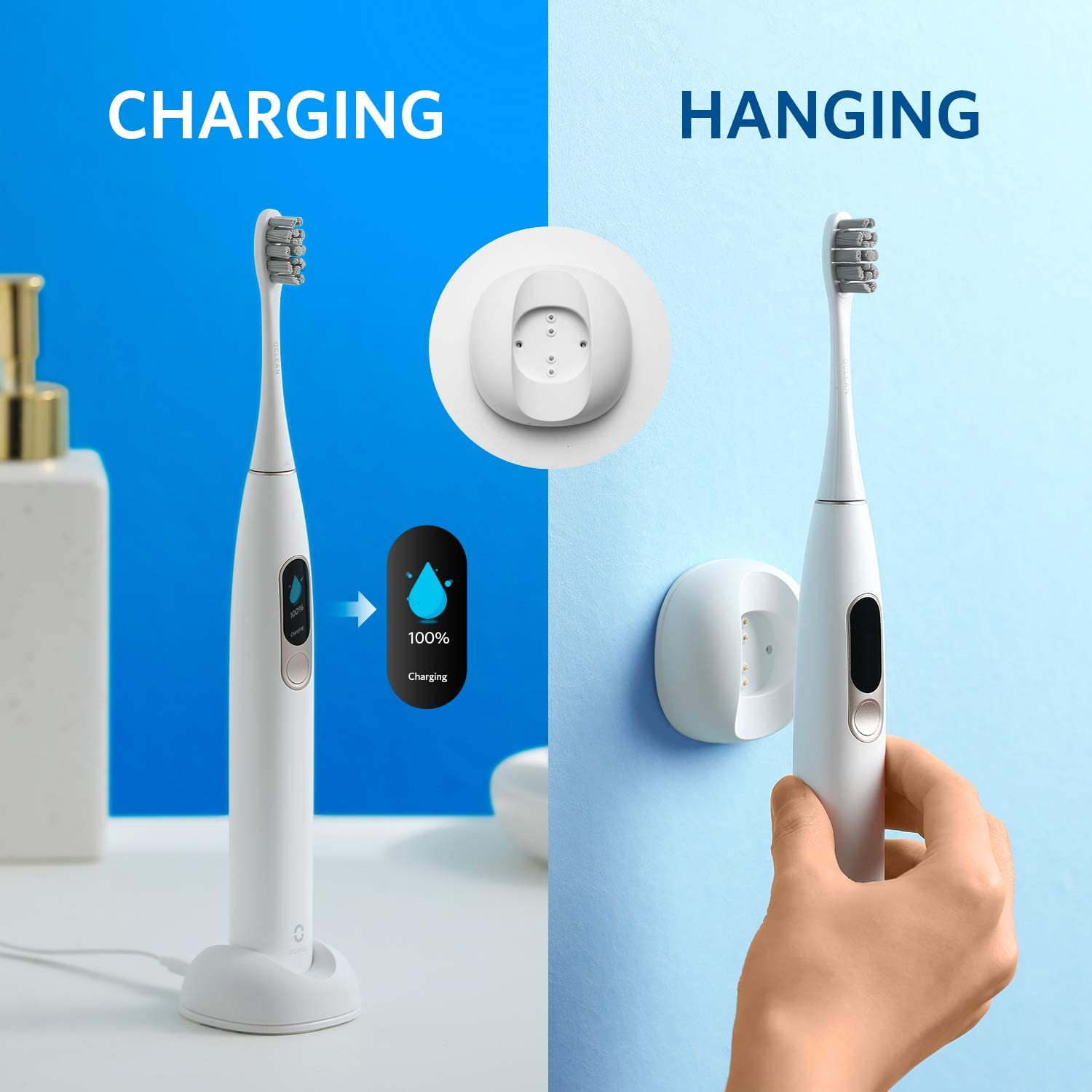 Sonic Electric Toothbrush Oclean X Smart Touch Screen APP Contro IPX7 Waterproof USB Fast Charging Oclean x Tooth Brush With