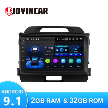JOYINCAR Android 9.1 Car Multimedia Player For KIA Sportage 3 2010-2015 Autoradio GPS Navigation Camera WIFI Stereo FM Radio image
