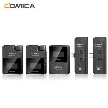 Comica BoomX-D MI Wireless Microphone Transmitter Kit Mini Microphone Receiver 2.4G Digital Microfone For Smartphones Video Mic