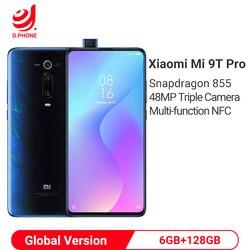 Em estoque versão global xiao mi 9 t pro 6 gb 128 gb snapdragon 855 smartphone 48mp triplo câmeras 4000 mah nfc telefone móvel