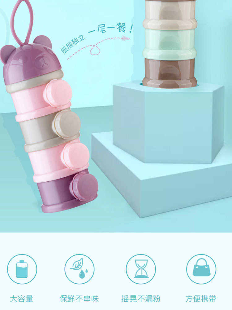 Nursing Milk Box Portable Infant 0-3 Years Old Baby Multilayer Milk Box Go Out With Milk Box