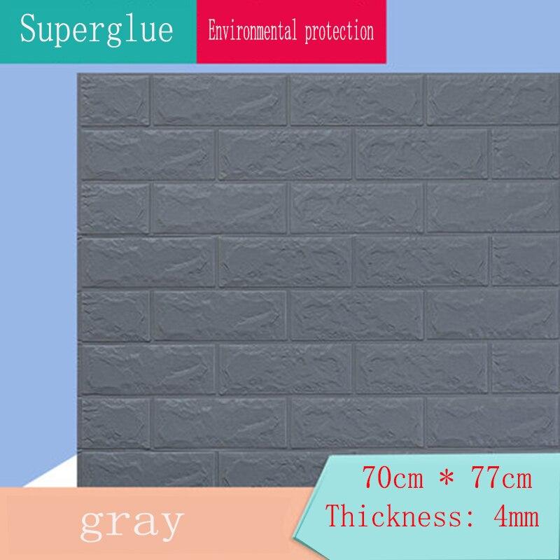 Wallpaper self-adhesive 3d three-dimensional wall stickers bedroom warm decoration waterproof and moisture-proof foam brick back