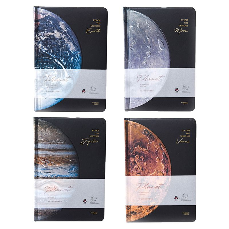 Student Stationery Beautiful Universe Hard Cover Lined Papers Notebook Starry Sky Journal Diary Notepad Boy Mens Stationery Gift
