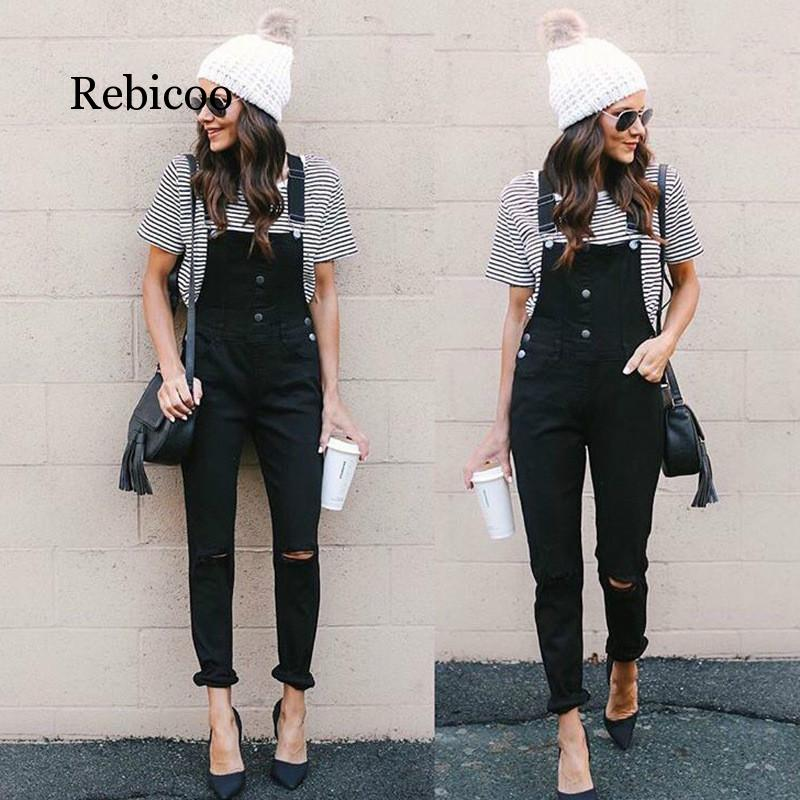 New Black Knee Hole In The Back Pants Skinny Jeans Woman High Waist Stretch Capris Ladies Jean Femme Plus Size