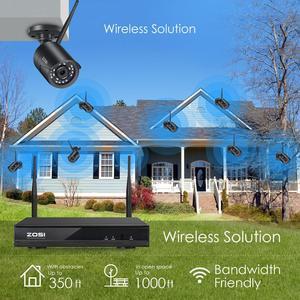 Image 2 - Zosi h.265 1080p 8ch cctv sistema nvr 2mp ir ao ar livre p2p sem fio wifi ip cctv câmera sistema de segurança kit vigilância sem hdd