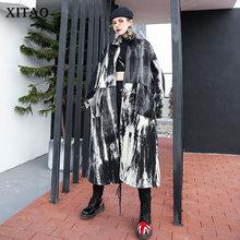 XITAO Plus Size Print Trench Women Fashion New 2019 Autumn P