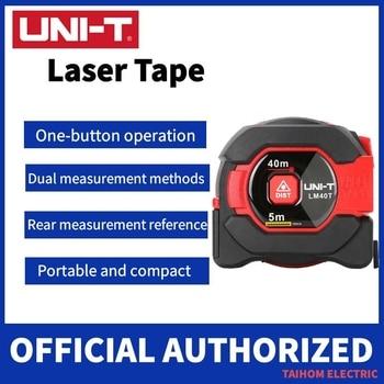 UNI-T Laser Measuring Tape Measure 40M Digital Distance Meter Rangefinder Retractable 5m Laser Ruler Trena a Laser Professional worx laser rangefinder wx087 distance meter 40m laser tape range finder build measure digital ruler trena roulette dilatometer