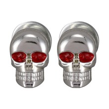 2x Universele Motorcycle Metal Chrome Red Skull Licentie Nummerplaat Frame Schroef(China)