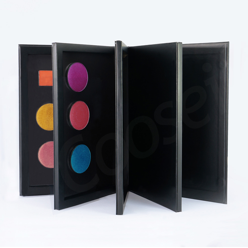 Coosei Book Shaped New Extra Large Magnetic Eyeshadow Pallete 3/4 Layers EMPTY Big Makeup Palette Storage Box 60pcs 36mm Shadows