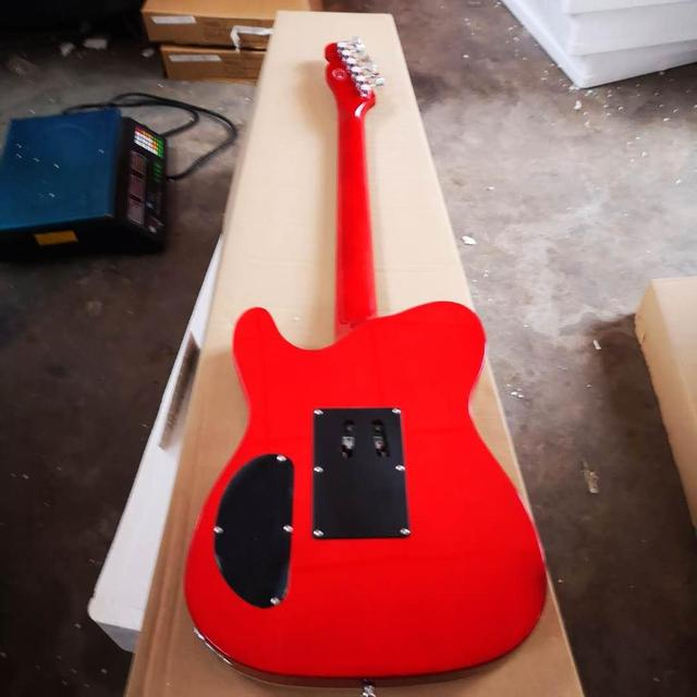 FDTL-2048 red color white binding solid  body with quilted maple venner cover rosewood fretboard  TL electric guitar, Free shipping 1