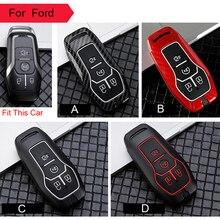 Чехол для ключей из углеродного волокна для Ford Fusion Mondeo F-150 Explorer Edge Fob Shell