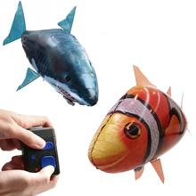 Remote Control RC Toy Inflatable Balloon Air Swimmer Flying Clown RC Fish недорого