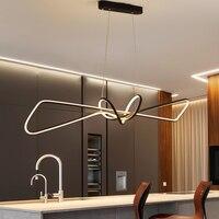 Modern Pendant Light for Kitchen Bar suspension 110V 220V Aluminum Wave Avize Lustre Pendant Lamp for Dining room Office