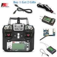 Flysky FS-i6X i6x 2.4g 10ch afhds 2a transmissor de rádio com x6b ia6b a8s ia10b ia6 receptor para rc avião helicóptero fpv zangão
