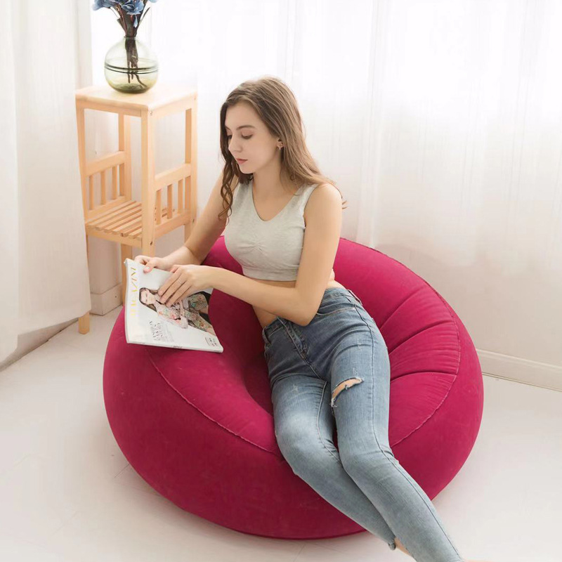 air chair inflatable sofa foldable living room single seat Portable seater Flocking garden sofa study room lazy sofa