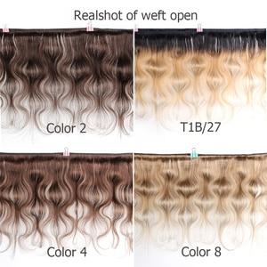 Image 2 - ボビーコレクション 1 バンドルカラー #2 #4 ダークブラウンインド毛織りバンドル 1B 27 オンブル蜂蜜ブロンド実体波非remy人間の毛髪