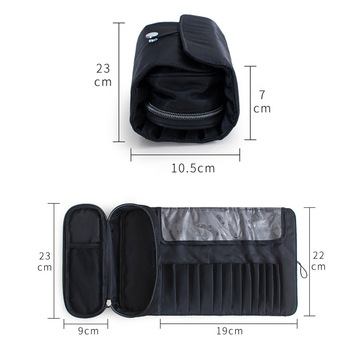 functional Cosmetics Case Makeup Brushes Bag Travel Organizer For Make Up Brushes Protector Coffin  Makeup Tools Rolling Pouch 2