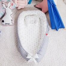 Детская переносная кроватка-гнездо Babynest для новорожденных, дорожная кроватка, тканевая хлопчатобумажная детская кроватка-бампер с подушко...