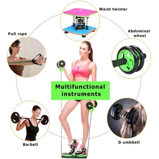 AB Wheels Roller Stretch Elastic Abdominal Resistance Pull Rope Tool  Abdominal Fitness Equipment 5