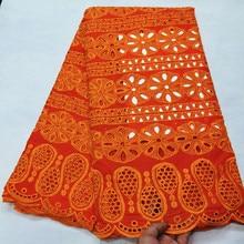 Burnted orange laço suíço voile renda na suíça robe dentelle tecidos de renda nigeriano africano vestido de casamento material 5 quintal/lote