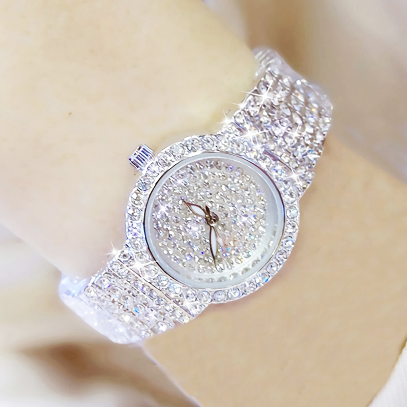 Bs Bee Sister Diamond Women Watches Luxury Brand Small Dial Female Rose Gold Watches Ladies Stainless Steel Lock Bayan Kol Saati 3