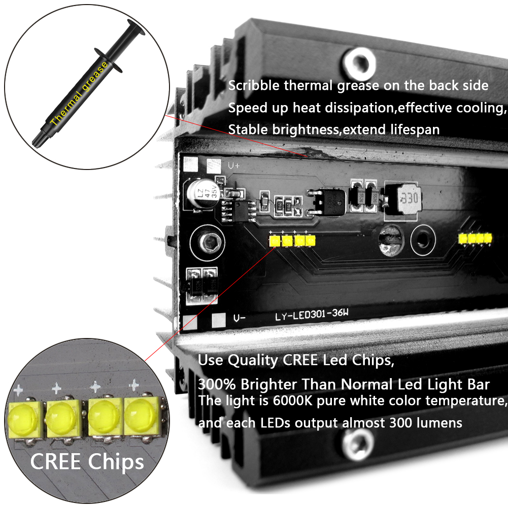 Clearance Sale6D Lens Led Light Bar For 4x4 Off road 4WD ATV UAZ Truck Tractors Trailer Motorcycle