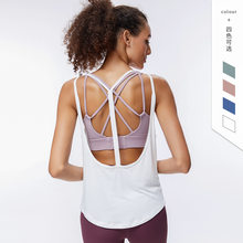 Blackless yoga weste schnell trocken sport top frauen lauf lose ärmellose bluse atmungsaktiv fitness tank top sportswear(China)