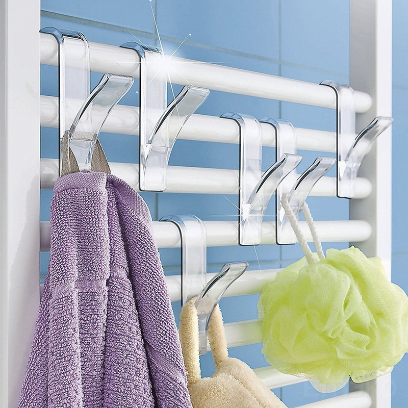 1PC Heated Towel Radiator Rail Bath Hook Holder High Quality Hanger Clothes Hanger Percha Plegable Scarf Hanger For Home Storage